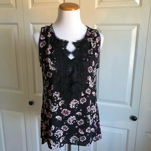 WHBM Floral Lace Shell Tank